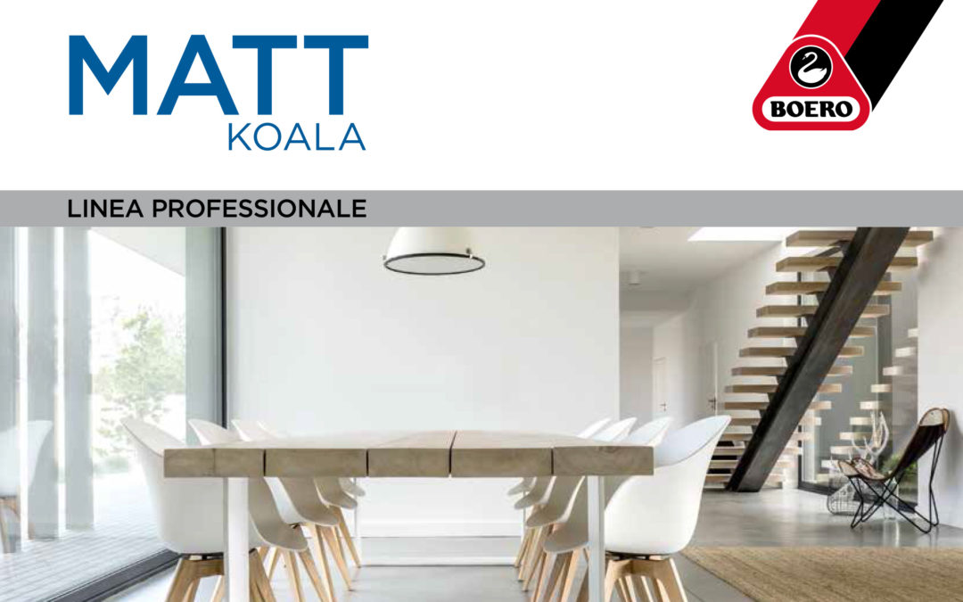 Boero lancia un nuovo prodotto: MATT Koala