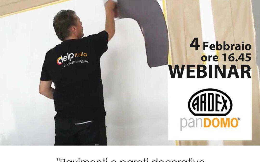 """Formazione on line: """"Pavimenti e pareti decorative Ardex panDOMO"""""""